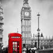 Red telephone booth and Big Ben — Stock Photo #42274771