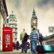Red telephone booth and Big Ben — Stock Photo #42274791