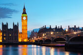 Big Ben and the River Thames at the evening — Stock Photo