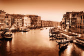 Venice, Italy. Grand Canal at sunset. — Stock Photo