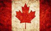 加拿大 grunge 旗. — 图库照片