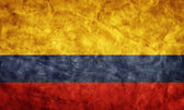 Colombia grunge flag. — Stock Photo
