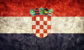 Bandera de croacia grunge — Foto de Stock