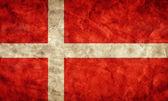 Danimarka grunge bayrağı. — Stok fotoğraf