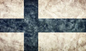 Finland grunge vlag — Stockfoto