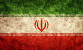 Iran grunge flag. — Stock Photo