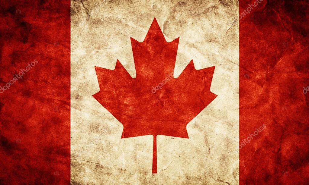 加拿大摇滚国旗.复古,复古风格.高分辨率
