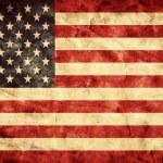 USA grunge flag. — Stock Photo