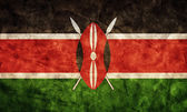 Kenya grunge flag. — Stock Photo