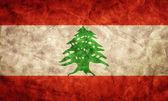 Lebanon grunge flag. — Stock Photo