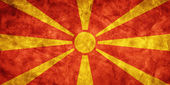 Macedonia grunge flag. — Stock Photo