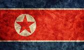 Severní korea grunge vlajka. — Stock fotografie