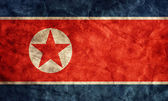 Vlag van noord-korea grunge. — Stockfoto