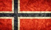 Bandera de noruega grunge. — Foto de Stock