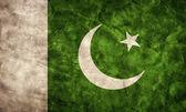 Bandeira do grunge de paquistão. — Foto Stock