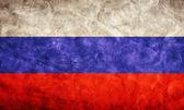Bandera de rusia grunge. — Foto de Stock