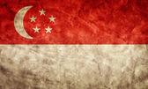 Singapore grunge flag. — Stock Photo