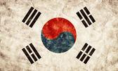 South Korea grunge flag. — Stock Photo
