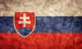 Slovakia grunge flag. — Stock Photo