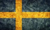 Sweden grunge flag. — Stock Photo
