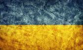 Drapeau de grunge ukraine. — Photo