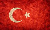 Turkey grunge flag. — Stock Photo