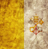 Vatican City grunge flag. — Photo