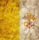 Vatican City grunge flag. — 图库照片