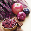 Plum and apple chutney — Stockfoto