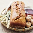 Walnut and honey bread — Stock Photo