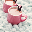 Hot chocolate with vanilla - Stock Photo