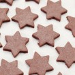 Baking gingerbreads - Stock Photo