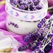 lavender sugar — Stock Photo