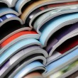Stock Photo: Pile of magazines