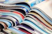 Stapel van tijdschriften — Stockfoto