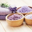 Lavender bath salt — Stock Photo #18415855