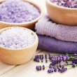 Lavender bath salt — Stock Photo #18415903