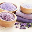 Lavender bath salt — Stock Photo #18415929