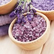 Lavender bath salt — Stock Photo #18415941