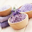 Lavender bath salt — Stock Photo