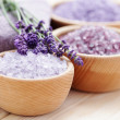 Lavender bath salt — Stock Photo #18415961