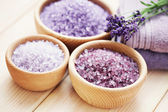 Lavender bath salt — Photo