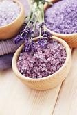 Lavendel badesalz — Stockfoto