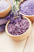 Lavender bath salt — Stock fotografie