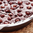 Hazelnuts brownie  — Stock Photo