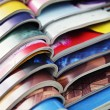 Stock Photo: Stack of magazines