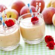 Peach smoothie — Stock Photo