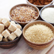 Various sugar — Stock Photo
