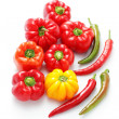Stock Photo: colored peppers