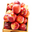 Box of nectarines — Stock Photo